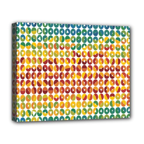 Weather Blue Orange Green Yellow Circle Triangle Deluxe Canvas 20  x 16