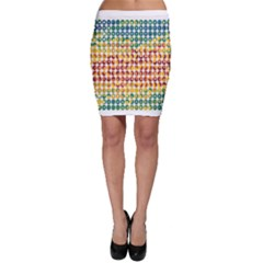 Weather Blue Orange Green Yellow Circle Triangle Bodycon Skirt