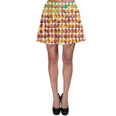 Weather Blue Orange Green Yellow Circle Triangle Skater Skirt