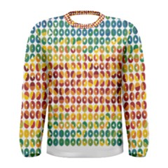 Weather Blue Orange Green Yellow Circle Triangle Men s Long Sleeve Tee