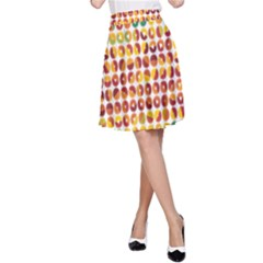 Weather Blue Orange Green Yellow Circle Triangle A-Line Skirt
