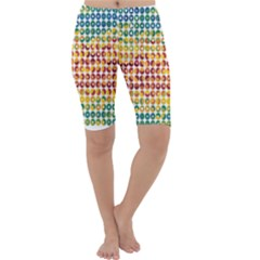 Weather Blue Orange Green Yellow Circle Triangle Cropped Leggings