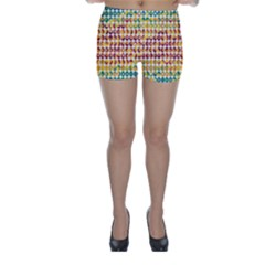 Weather Blue Orange Green Yellow Circle Triangle Skinny Shorts