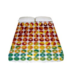 Weather Blue Orange Green Yellow Circle Triangle Fitted Sheet (Full/ Double Size)