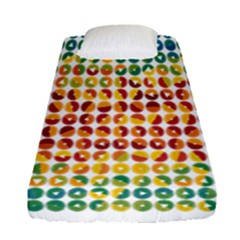 Weather Blue Orange Green Yellow Circle Triangle Fitted Sheet (Single Size)