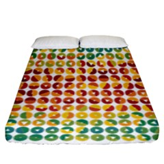 Weather Blue Orange Green Yellow Circle Triangle Fitted Sheet (King Size)