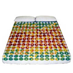 Weather Blue Orange Green Yellow Circle Triangle Fitted Sheet (California King Size)