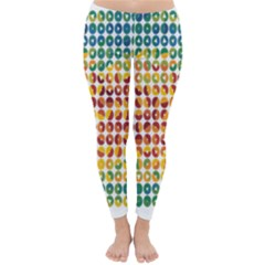 Weather Blue Orange Green Yellow Circle Triangle Classic Winter Leggings