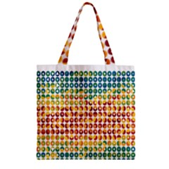 Weather Blue Orange Green Yellow Circle Triangle Zipper Grocery Tote Bag