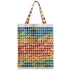 Weather Blue Orange Green Yellow Circle Triangle Zipper Classic Tote Bag
