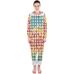 Weather Blue Orange Green Yellow Circle Triangle Hooded Jumpsuit (Ladies)