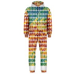 Weather Blue Orange Green Yellow Circle Triangle Hooded Jumpsuit (Men)