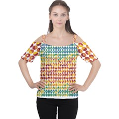 Weather Blue Orange Green Yellow Circle Triangle Women s Cutout Shoulder Tee