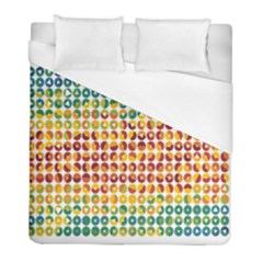 Weather Blue Orange Green Yellow Circle Triangle Duvet Cover (full/ Double Size) by Alisyart