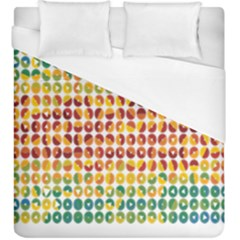 Weather Blue Orange Green Yellow Circle Triangle Duvet Cover (King Size)