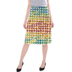 Weather Blue Orange Green Yellow Circle Triangle Midi Beach Skirt by Alisyart