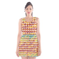Weather Blue Orange Green Yellow Circle Triangle Scoop Neck Skater Dress