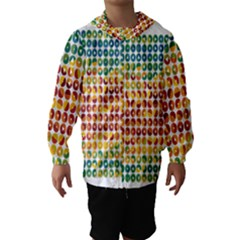 Weather Blue Orange Green Yellow Circle Triangle Hooded Wind Breaker (Kids)