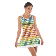 Weather Blue Orange Green Yellow Circle Triangle Cotton Racerback Dress