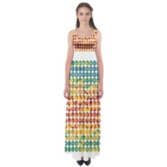 Weather Blue Orange Green Yellow Circle Triangle Empire Waist Maxi Dress