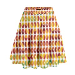 Weather Blue Orange Green Yellow Circle Triangle High Waist Skirt