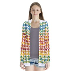Weather Blue Orange Green Yellow Circle Triangle Cardigans