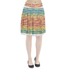 Weather Blue Orange Green Yellow Circle Triangle Pleated Skirt