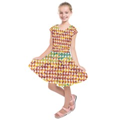 Weather Blue Orange Green Yellow Circle Triangle Kids  Short Sleeve Dress