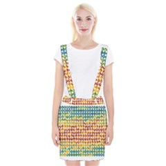 Weather Blue Orange Green Yellow Circle Triangle Suspender Skirt