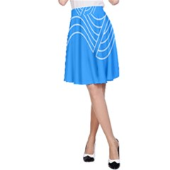 Waves Blue Sea Water A Line Skirt