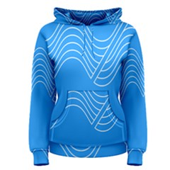 Waves Blue Sea Water Women s Pullover Hoodie