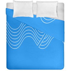 Waves Blue Sea Water Duvet Cover Double Side (california King Size)