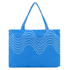 Waves Blue Sea Water Medium Zipper Tote Bag
