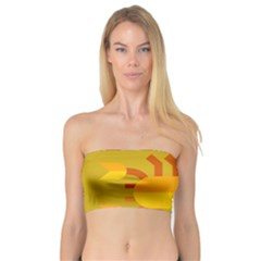 Animals Scorpio Zodiac Orange Yellow Bandeau Top