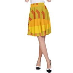 Animals Scorpio Zodiac Orange Yellow A Line Skirt