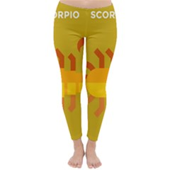 Animals Scorpio Zodiac Orange Yellow Classic Winter Leggings