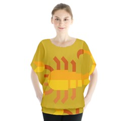 Animals Scorpio Zodiac Orange Yellow Blouse