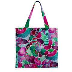 Frosted Sea Glass Grocery Tote Bag by KirstenStar