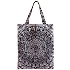Mandala Boho Inspired Hippy Hippie Design Zipper Classic Tote Bag by CraftyLittleNodes