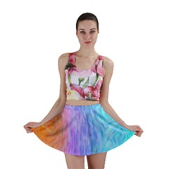 Abstract Color Pattern Textures Colouring Mini Skirt
