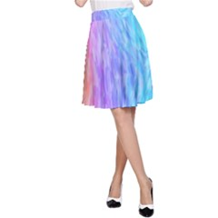 Abstract Color Pattern Textures Colouring A Line Skirt by Simbadda