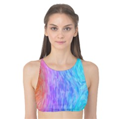 Abstract Color Pattern Textures Colouring Tank Bikini Top