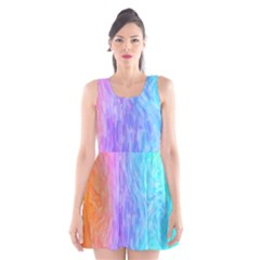 Abstract Color Pattern Textures Colouring Scoop Neck Skater Dress