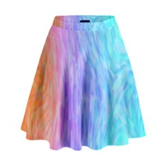 Abstract Color Pattern Textures Colouring High Waist Skirt by Simbadda
