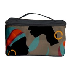 African Women Ethnic Pattern Cosmetic Storage Case by Simbadda