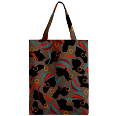 African Women Ethnic Pattern Zipper Classic Tote Bag by Simbadda