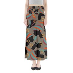 African Women Ethnic Pattern Maxi Skirts