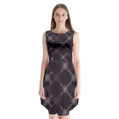 Abstract Seamless Pattern Sleeveless Chiffon Dress   by Simbadda