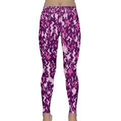 Chic Camouflage Colorful Background Classic Yoga Leggings by Simbadda