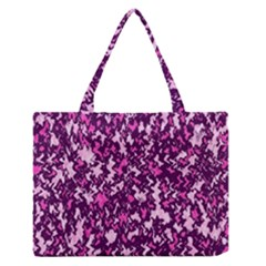 Chic Camouflage Colorful Background Medium Zipper Tote Bag